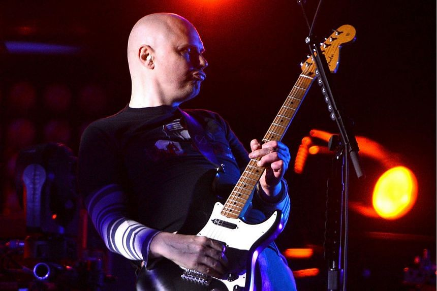Billy Corgan of The Smashing Pumpkins performing at Barclays Centre of Brooklyn in New York City on Dec 10, 2012.