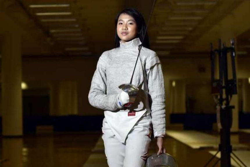 Singaporean fencer Lau Ywen finished second at the European Cadet Circuit event in Meylan, France, on Oct 16, 2016.PHOTO: DIOS VINCOY JR FOR THE STRAITS TIMES