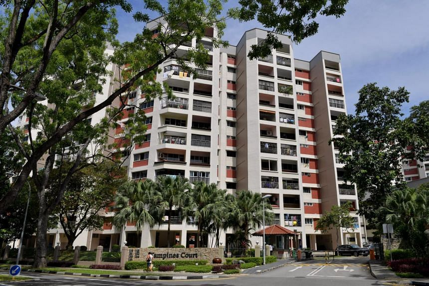 Former HUDC estate Tampines Court at Tampines Street 11.