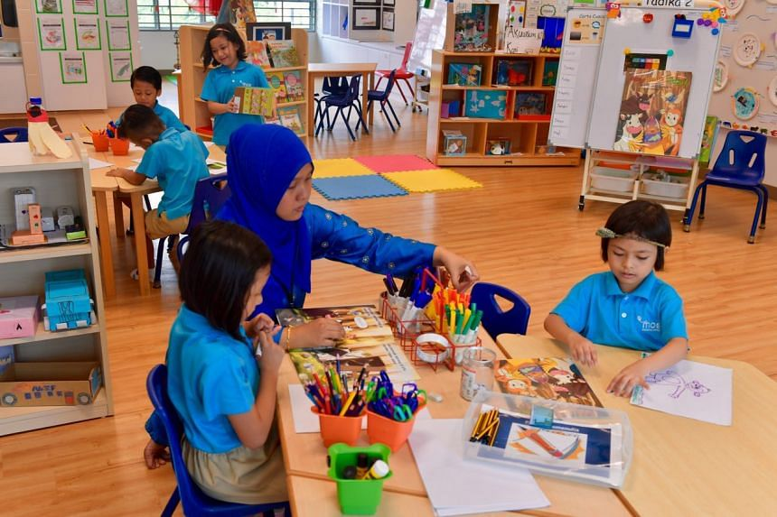 Classes being conducted at MK@Punggol Green on Wednesday, Aug 23 2017.