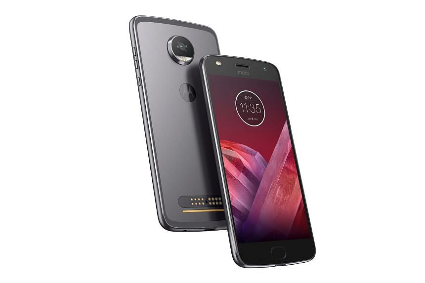 The Moto Z2 Play is the upgraded 2017 version of the mid-range Play line, which features Moto Mod support.