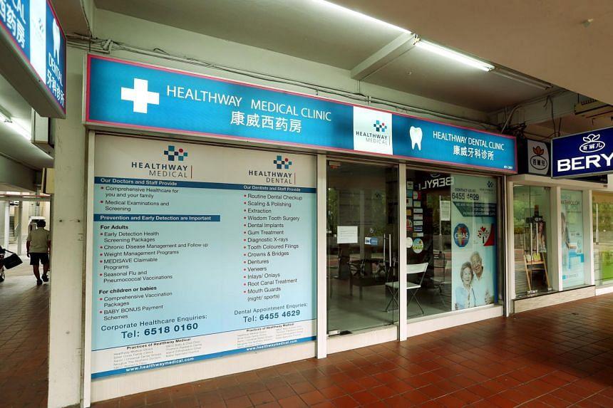 Healthway Medical at Blk 721 Ang Mo Kio.