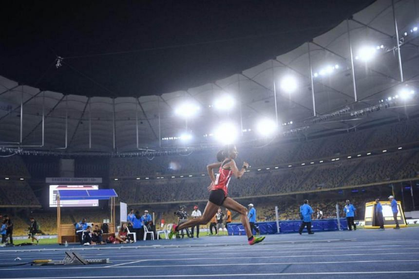 Dipna Lim-Prasad in action during the SEA Games women's 400m final.