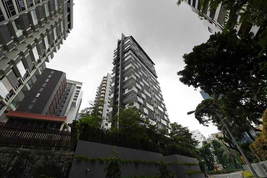 Affected buildings include luxury condominiums The Peak@Cairnhill I and II (above).