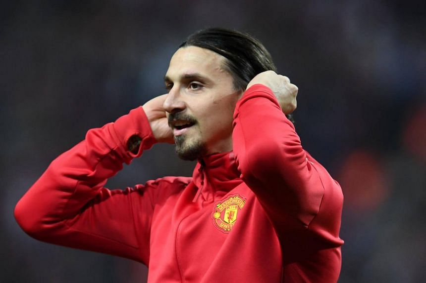 Manchester United's Swedish striker Zlatan Ibrahimovic reacts after victory in the UEFA Europa League final football match  at the Friends Arena in Solna outside Stockholm, on May 24, 2017.