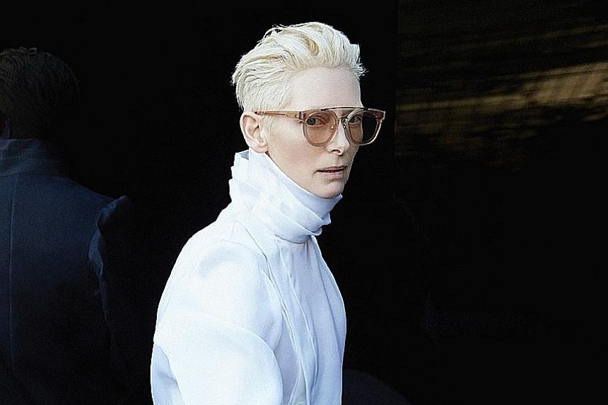 Eyewear brand Gentle Monster's collection with British actress Tilda Swinton (left) will be available at the Singapore flagship.