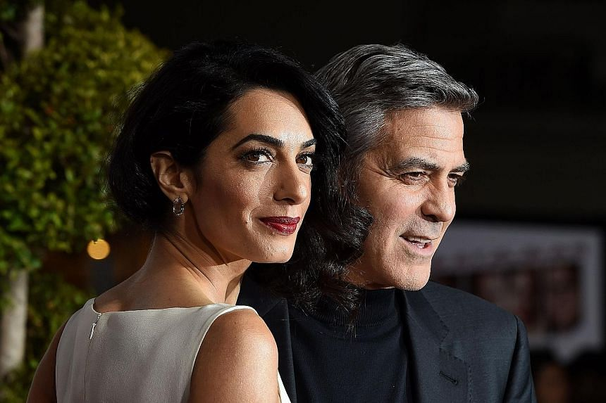 The donation comes from the Clooney Foundation for Justice, which the couple (left) established last year.