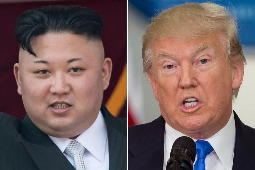 """President Donald Trump (right) said Tuesday that Kim is """"starting to respect"""" the US."""