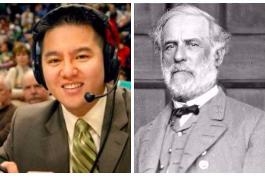Sportscaster Robert Lee has the same name as Confederate general Robert E. Lee.