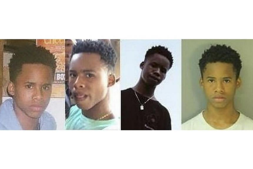 Handout photos from the US Marshals Service of Taymor McIntyre, the 17-year-old Texas rapper Tay-K, or Tay-K 47.