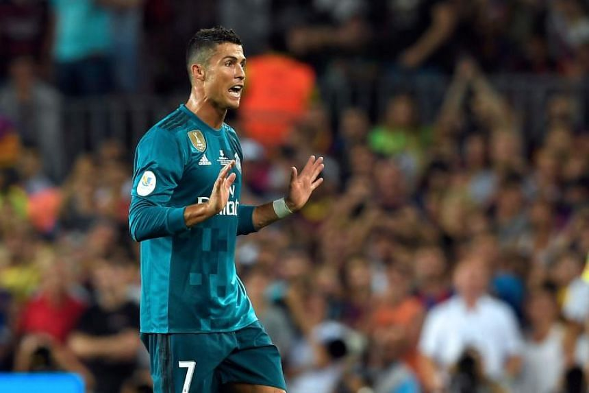 Real Madrid's Cristiano Ronaldo was sent off in the first leg of the Spanish Super Cup against FC Barcelona.
