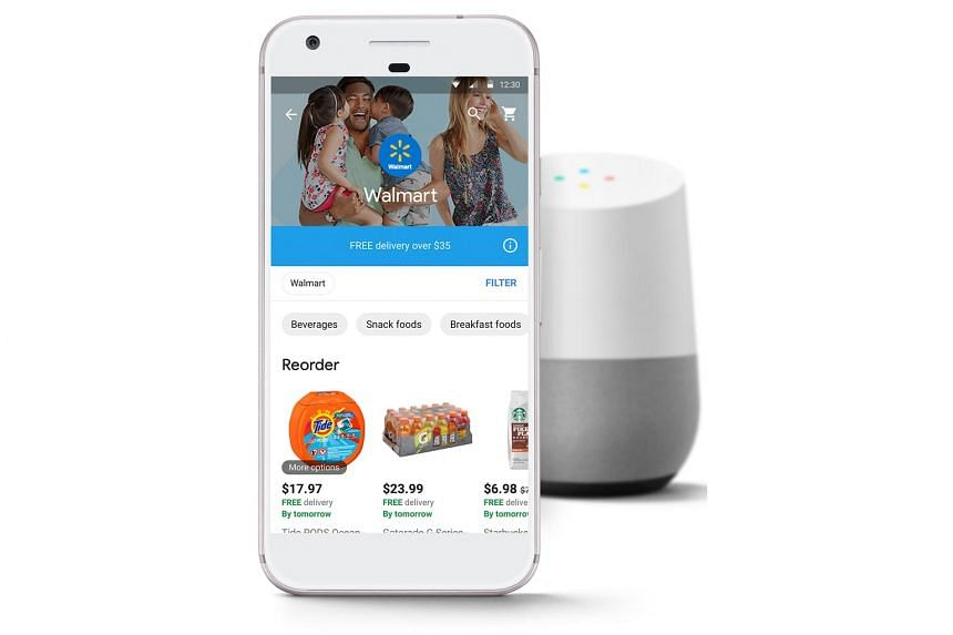Hundreds of thousands of Walmart items will be available on the voice-controlled Google Assistant platform from late next month.