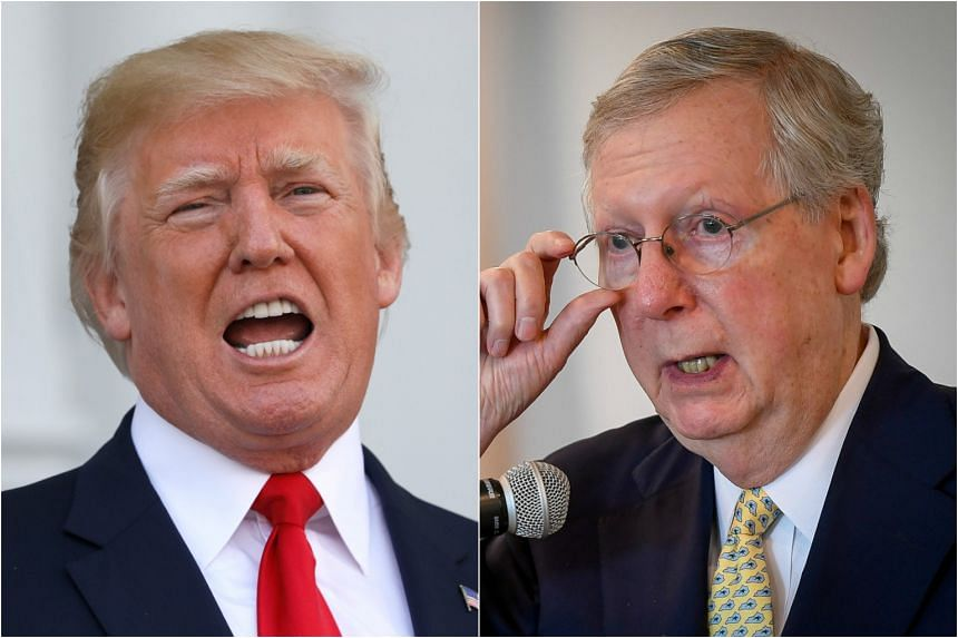 US President Trump has lashed out in recent weeks against Senate Majority Leader McConnell.