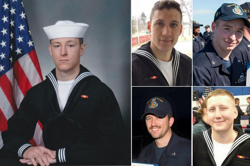 Clockwise from left: Kenneth Smith, Dustin Doyon, Jacob Drake, Logan Palmer and Charles Finley.