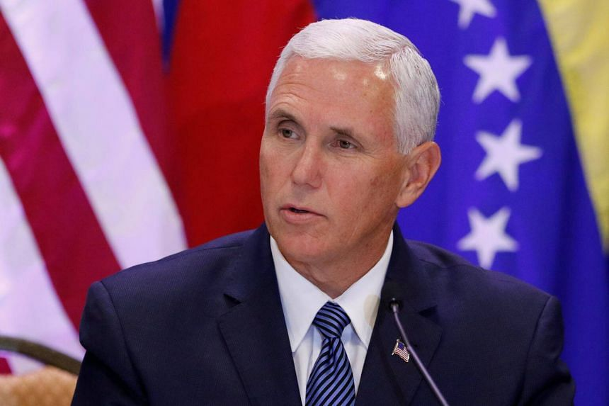 US Vice President Mike Pence speaks about the continuing devastation and unrest in Venezuela at Our Lady of Guadalupe Catholic Church in Doral, on Aug 23, 2017.