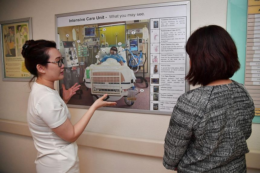 In 2014, a team from SGH worked on the idea of using mobile technology to help ICU patients communicate better. That year, the hospital introduced iPads in the ICUs. The iPads come with third-party apps that have shortcuts for patients to indicate th