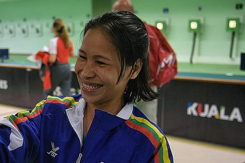 May Poe Wah of Myanmar topped the eight-strong field to win gold, her first SEA Games medal in three editions.