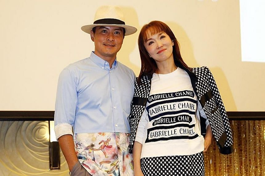 Christopher Lee (with wife Fann Wong) is up for Best Actor In A Mini-series Or TV Film for playing a closeted gay man in The Long Goodbye (2017).