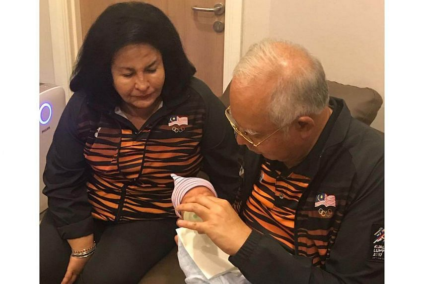 Malaysian Prime Minister Najib Razak and his wife Rosmah Mansor have become proud grandparents, after their daughter gave birth to a baby boy on Thursday (Aug 24).