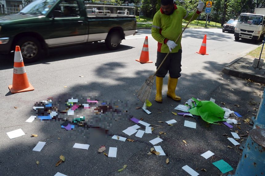 Ms Serene Ng, 41, was heading home after doing some volunteer work when the accident happened.