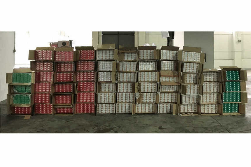 A total of 3,000 cartons of duty-unpaid cigarettes were seized.