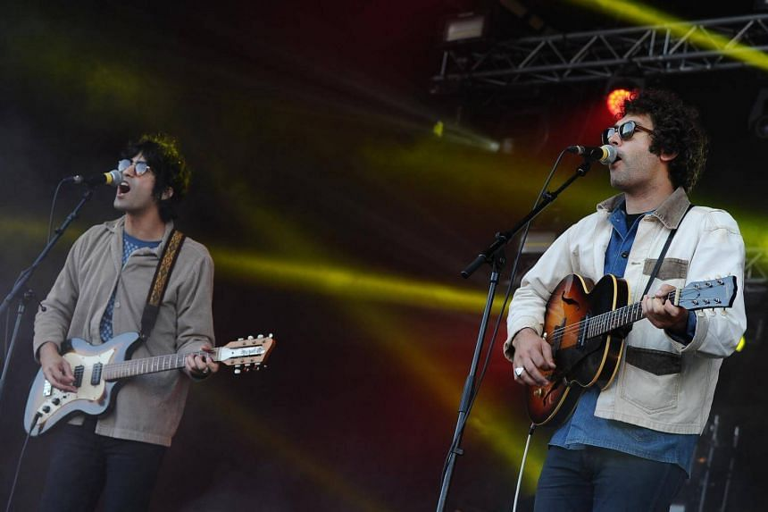 US rock band Allah-Las performs on stage during the 28th Eurockeennes de Belfort music festival in Belfort, France on July 2, 2016.
