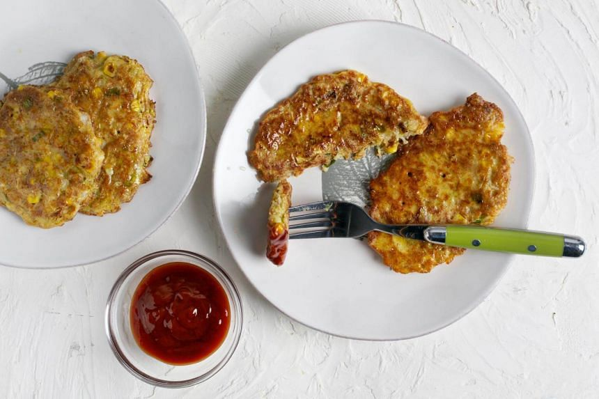 Okonomiyaki, savoury pancakes are filled with vegetables, seafood and sometimes meat.