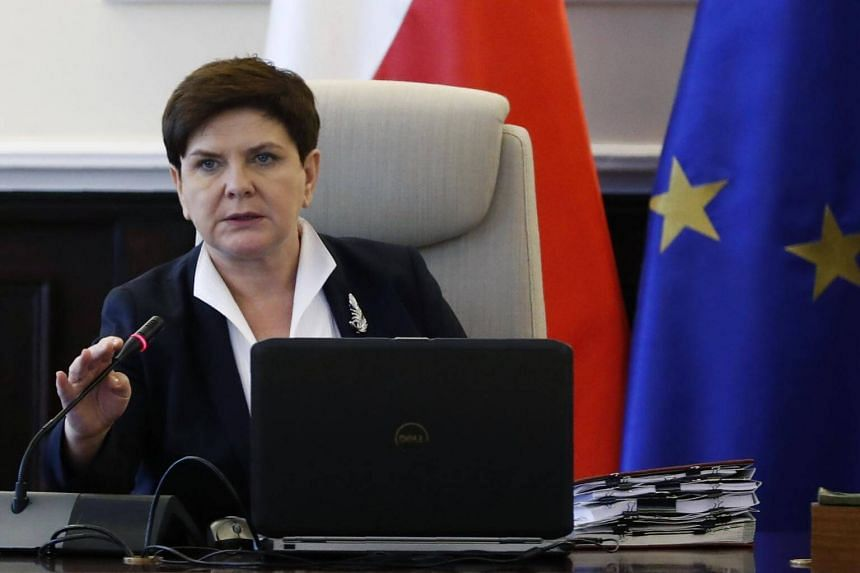 Poland's Prime Minister Beata Szydlo attends a government meeting in Warsaw, Poland on July 25, 2017.