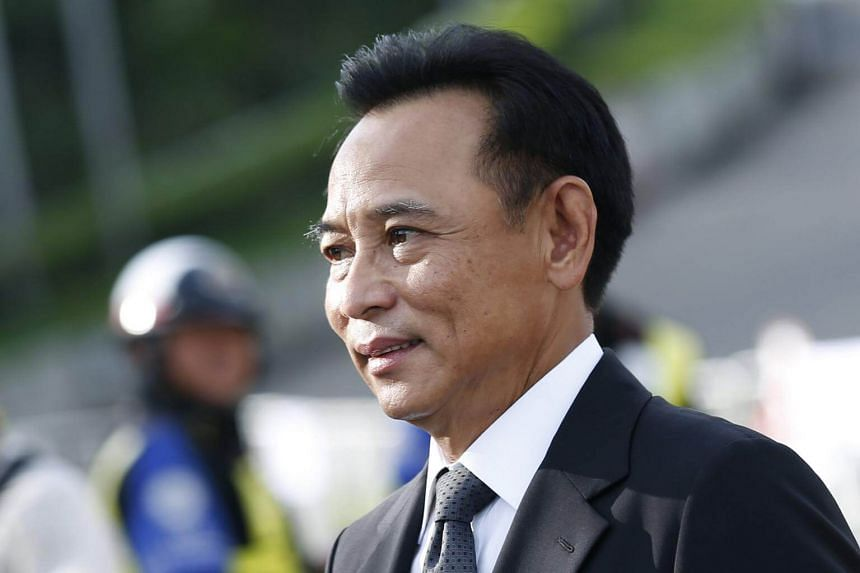 Former Thai commerce minister Boonsong Teriyapirom arriving for his verdict at the Supreme Court's Criminal Division for Persons Holding Political Positions in Bangkok, Thailand, on Aug 25, 2017.