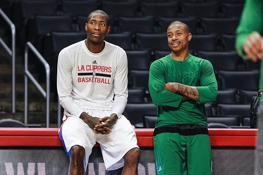 Isaiah Thomas (right) in a photo from his Instagram page.