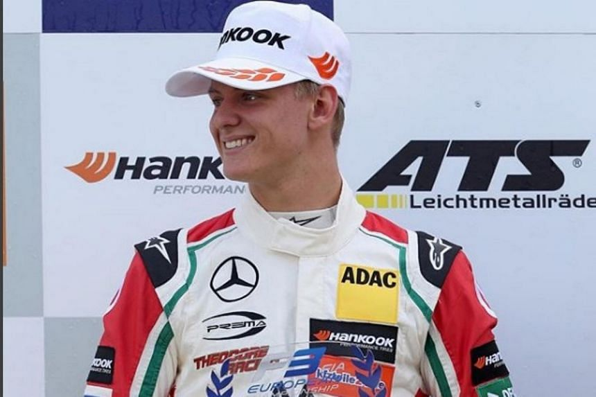 Mick Schumacher is working his way through the junior motor racing series and is currently competing in European Formula Three after a debut in Formula Four.