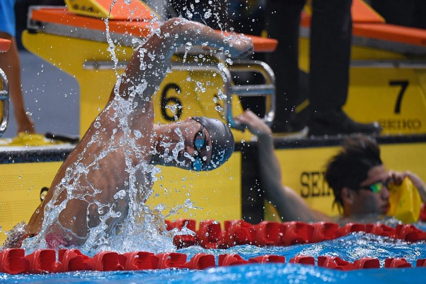 Teong Tzen Wei's winning time was just 0.08 seconds off Joseph Schooling's national record of 22.47sec.