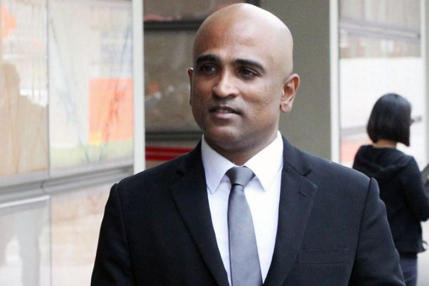 M. Ravi was charged in court for three incidents that took place on July 31, Aug 8 and Aug 11. PHOTO: LIANHE ZAOBAO