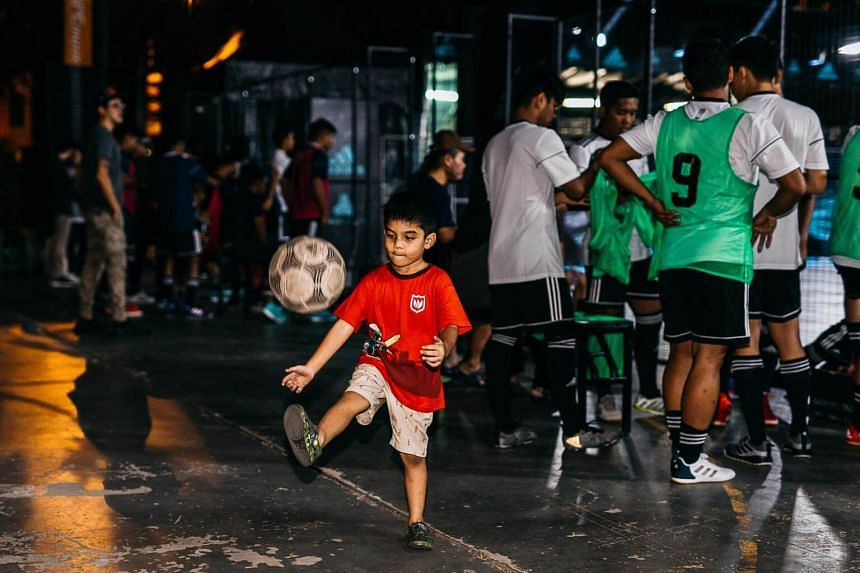 Participants at the second edition of the Tango League, an unique urban football tournament.