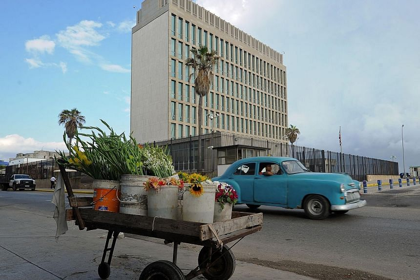 "While the cause of the injuries to Americans linked with the United States Embassy (left) in Cuba remains a mystery, the State Department suspects an ""acoustic attack"" and the exact origin is still being investigated."