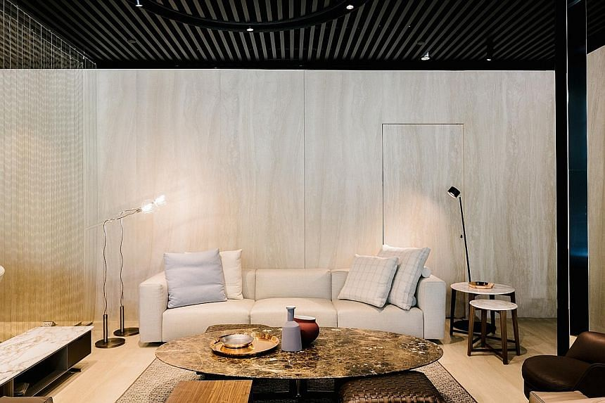 FLEXFORM GETS OWN STORE: Flexform, an Italian label best known for its luxurious, comfortable couches (above)