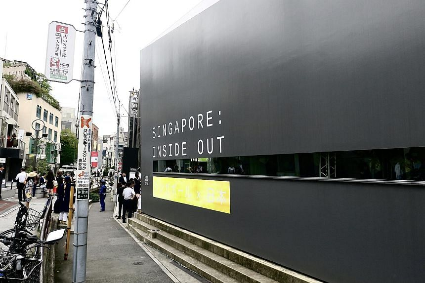 The Singapore: Inside Out exhibition at the hip Omotesando district in Tokyo. To connect with Japanese consumers, STB has engaged Japanese heart-throb Takumi Saitoh as its tourism ambassador.
