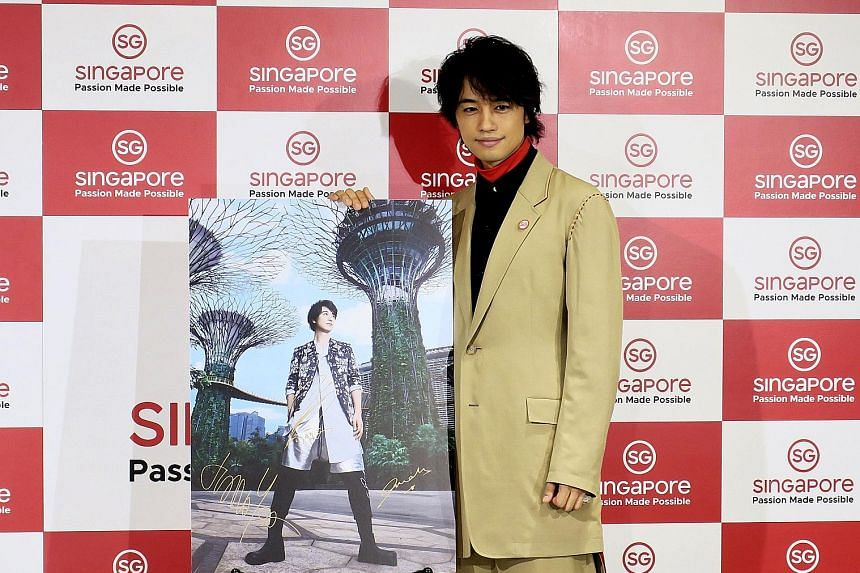 The Singapore: Inside Out exhibition at the hip Omotesando district in Tokyo. To connect with Japanese consumers, STB has engaged Japanese heart-throb Takumi Saitoh (above) as its tourism ambassador.