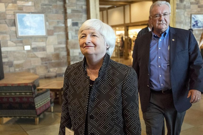 Federal Reserve chair Janet Yellen arriving for a dinner at the Jackson Hole economic symposium in Moran, Wyoming, on Thursday. She made it clear in her speech that she believes that while some improvements could be made to the banking system, they s