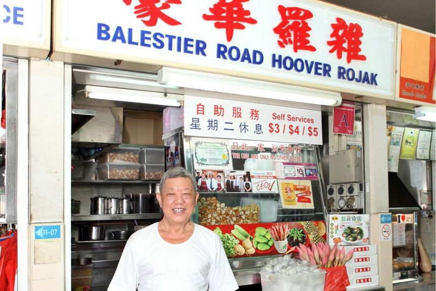 Mr Lim Ngak Chew, the owner of the popular Hoover Rojak stall at Block 90 Whampoa Drive Food Centre, 01-06 on Nov 20, 2013.