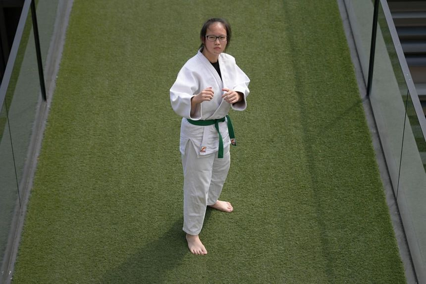 Nanyang Girls High judoka Wang Jinghan is the first recipient of the Young Star of the Month award.
