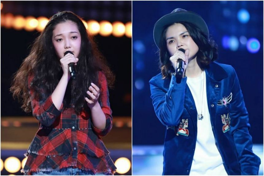 Singapore's Olinda Cho (right) and Curley Gao have advanced to the third round of Sing! China.