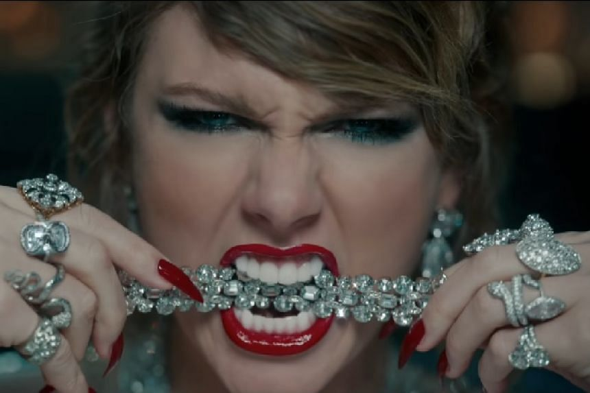 Swift in a screenshot from a preview video for new single Look What You Made Me Do.