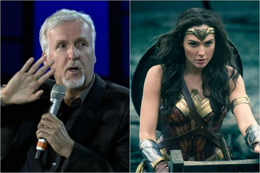 """Director James Cameron says the Wonder Woman movie is """"a step backwards""""."""