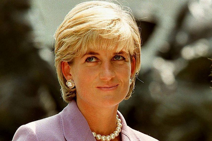 Britain's Diana, Princess of Wales, at a ceremony at Red Cross headquarters in Washington, to call for a global ban on anti-personnel landmines on June 17, 1997.