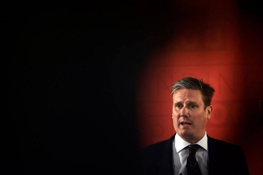 Keir Starmer Britain's opposition Labour Party's shadow Secretary of State for Exiting the EU details his party's position on Brexit during an election campaign speech in London, April 25, 2017.