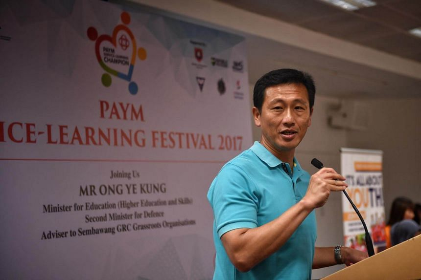 At the event, Mr Ong Ye Kung, Education Minister (Higher Education and Skills), presented 21 Project Accolade awards to recognise programmes that have successfully integrated student learning objectives with meaningful community service.