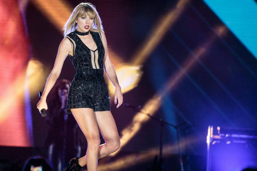 Singer-songwriter Taylor Swift performing during the Formula 1 United States Grand Prix at Circuit of The Americas in Austin, Texas on Oct 21, 2016.