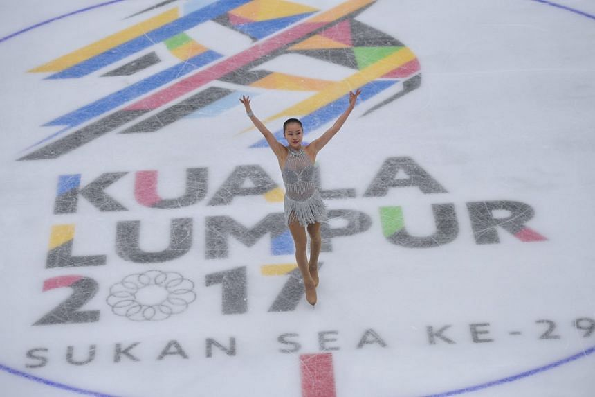 Figure skater Yu Shuran clinched Singapore's first winter sports gold at the SEA Games after she came out tops in the women's competition on Sunday (Aug 27).