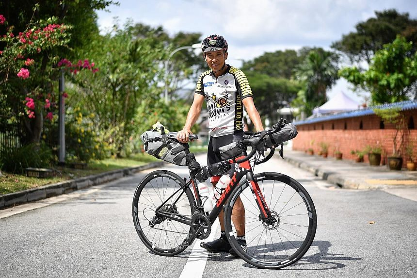 Mr Steven Hon is just one of four Singaporeans who took part in the Transcontinental Race this year. He came in 68th.